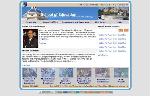 UTB School of Education screenshot